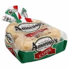 Amoroso's 8-Pack Kaiser Rolls - 3 Packages