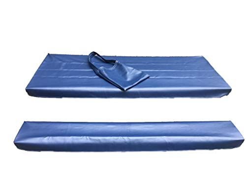- Table Gloves- Worlds Finest, Most Heavy Duty, Fitted Marine Grade Vinyl Picnic Table Cover Sets- Hand Made in The U.S.A. - Great for Camping or Full Time RV Living- (6 Foot Set- Navy Blue)
