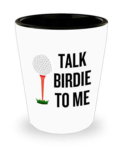 Funny Golf Shot Glass - Golfer Gift Idea - Golf Player Present - Talk Birdie To Me ()