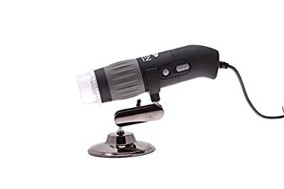 Aven 26700-302 zipScope Digital Handheld Microscope with Polarizer, 10x-200x Magnification, Upper White-LED Illumination, With Stand, Includes 9MP Camera