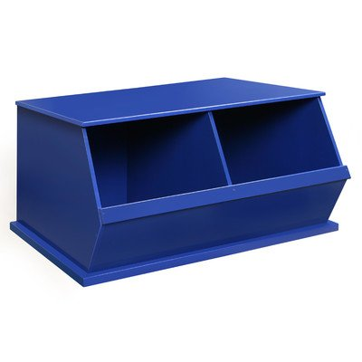 Two Bin Storage Cubby in Red