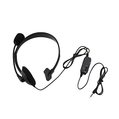 Smartlove1P Black Wired Gaming Headset Game Headphone Microphone Headband with Mic Stereo Bass 3.5mm for PC Computer Playstation 4 PS4
