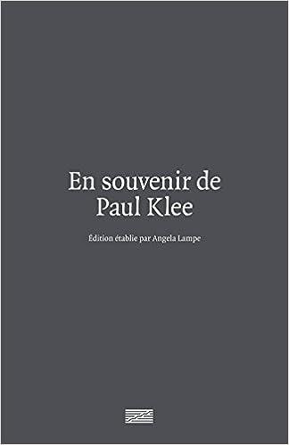 En ligne téléchargement En souvenir de Paul Klee pdf, epub ebook