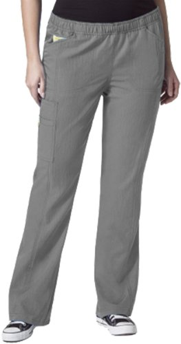 WonderWink Women's Boot Cut Cargo Pant, Pewter, 4 Extra Plus Petite