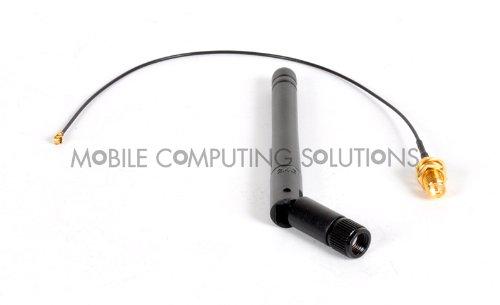 Mini PCIe Wifi Antenna Kit 3Dbi RP-SMA Antenna + 20cm U.fl/IPEX to Bulkhead RP-SMA Pigtail