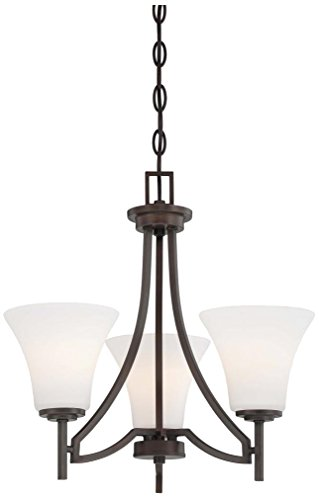 Minka Lavery 4933-284 3-Light Middlebrook Mini Chandelier, Vintage Bronze Finish For Sale