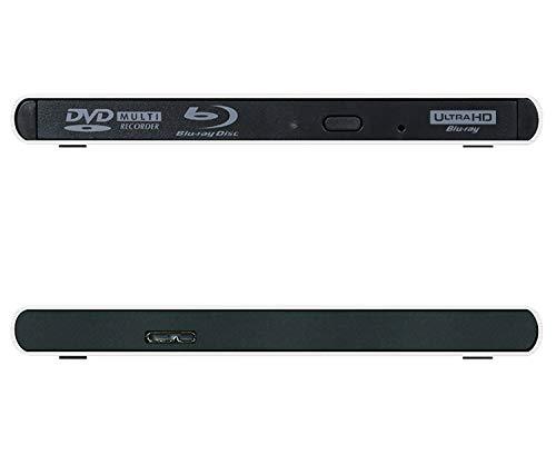 Archgon Style UHD 4K-Ultra HD BD Reproductor Player Externo, grabadora de BLU-Ray BDXL para PC USB 3.0, M-Disc, Aluminio Plateado