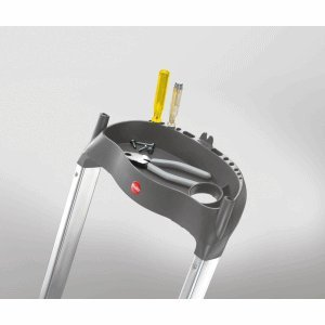 Hailo ProfiLine S 150 XXL Alu-Sicherheits-Stufenstehleiter 5 Stufen 8815-021