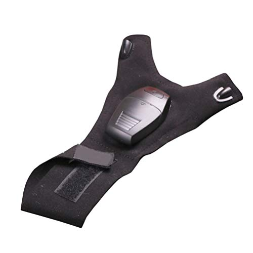 Black Led Light Up Fingerless Gloves in US - 9