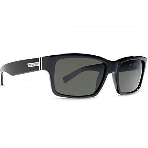 Von Zipper Gloss Black Fulton Rectangle Sunglasses Lens Category 3 Lens - Sunglasses Fulton