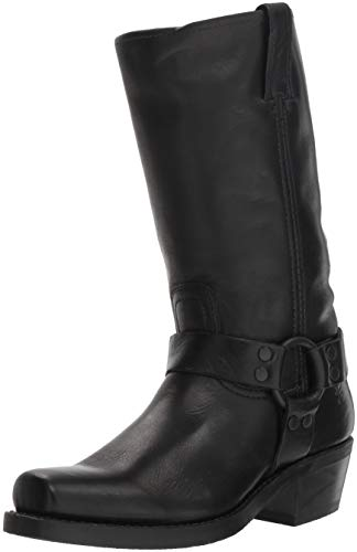 FRYE Women's Harness 12R Mid Calf Boot Black 9 M US