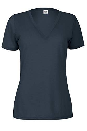 (Casual Garb Women's Slub V-Neck T Shirt Short Sleeve Tee T Shirts for Women Iron Small)