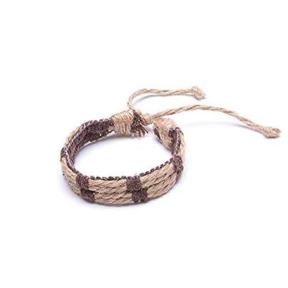 ASHOUZ Colourful Wristband Handmade Clothing Accessories Yoga Bracelets Cotton Linen Women s Charm Woven Bracelet For Men Jewelry Bracelet Estimated Price £18.00 -