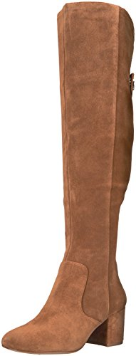 Nine West Women's Queddy Suede Over The Knee Boot, Brown, 11 Medium US by Nine West