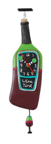Allen Designs Corked Wine Time Pendulum Clock (Wine Clock)