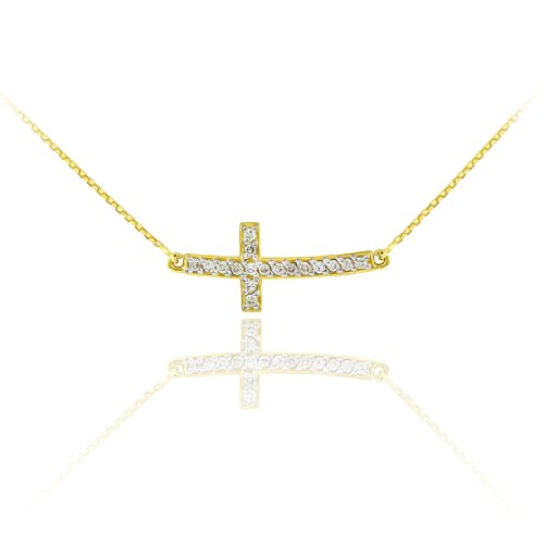 Curved Diamond Necklace - 1