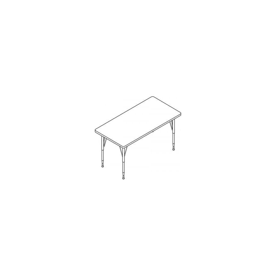 HON Rectangle Activity Table with Short Black/Chrome Legs 60W x 30D