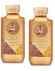 (Bath and Body Works 2 Pack Spiced Gingerbread Swirl Shower Gel 10 Oz.)