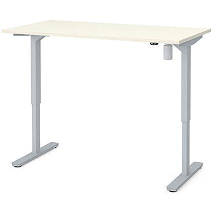 Amazon Com Bestar 60 Electric Adjustable Standing Desk In White