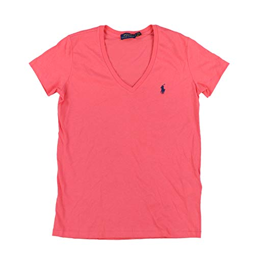 Polo Ralph Lauren Womens V-Neck Jersey T-Shirt (Large, ()