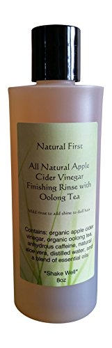 (Natural First Organic Apple Cider Vinegar Finishing Rinse w/Oolong Tea to Add Shine to Dull Hair)