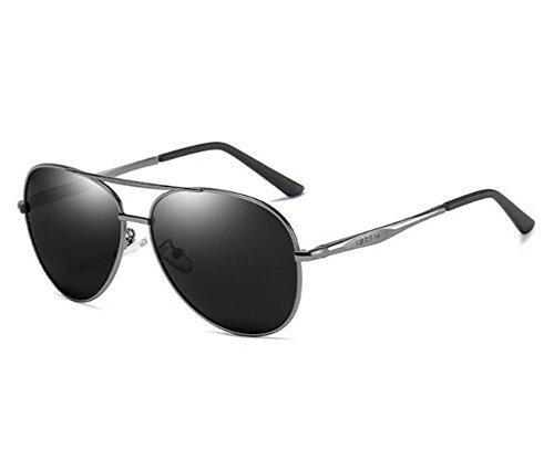 gafas gafas polarizada 150 conductores gafas de los de banda miopía de sol sapos KOMNY gafas hombres Producto de luz los acabado de conducción Black Of sol de la Ash 500 Marea los Degree hombres mercu sol de la grados Agw0qa
