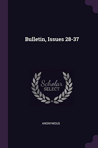 Download Bulletin, Issues 28-37 pdf epub
