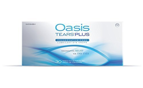 (125 Vials Oasis Tears Plus Preservative-Free Lubricant Eye Drops (4 Boxes, 30 Vials each and a 5 Vial)