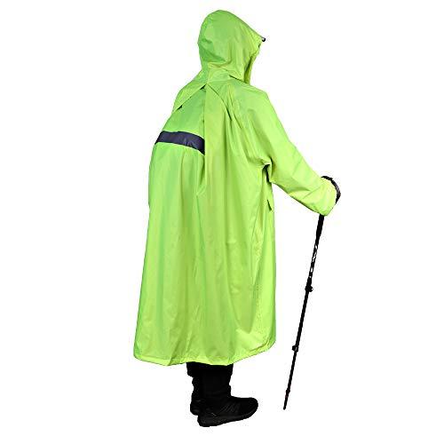 Anyoo Waterproof Rain Poncho Lightweight Reusable Hiking Hooded Coat Jacket for Outdoor Activities