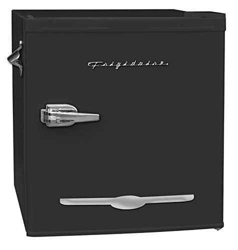 Frigidaire CUREFR176BK 1.6 Cubic-ft Retro Compact Refrigerator, Medium, Black
