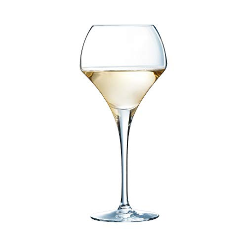 Open Up Round Wine Glasses 12.3oz / 370ml - Pack of 6 | 37cl Wine Glasses, Wine Tasting Glasses, Kwarx Glasses ()