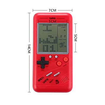ACHICOO RETR/o Classic Childhood Tetris Handheld Game Players LCD Electronic Games Toys Game Console Riddle Educational Toys red