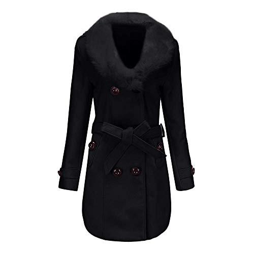 Coton Winter Manteau mince Casual laine Trench Jacket Vestes Extérieur Cardigan Wind Femmes Femmes Bk Léger en nzSgzYqw