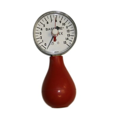 Baseline174; Pneumatic Squeeze Bulb Dynamometer, with Reset, 15 PSI Capacity