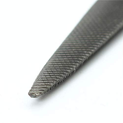 GIlH 8 Inch Carbon Steel Double Ended Flat and Half Round Wax Carving File
