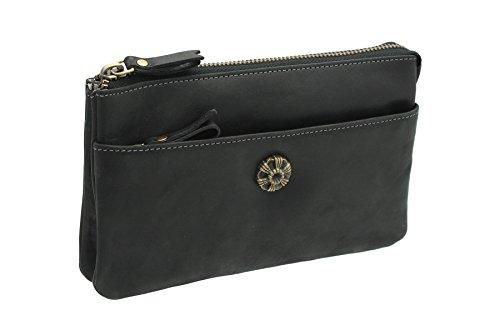 Noir pour femme Pochette noir noir 88 Leather Mala 7119 CBqgw