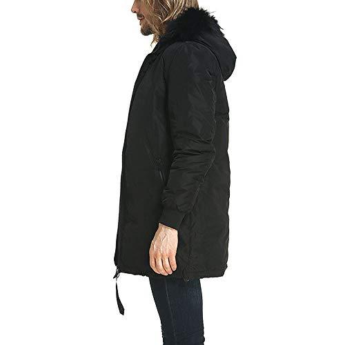 Frío Black Casual Abrigo Chaqueta Invierno De Capucha XXL Chaquetas En De con Ideal La De Clima De Moda WUYEA Los Moda Hombres HzqRzw