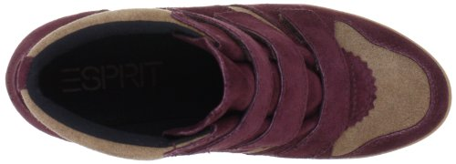 ESPRIT Lexa Tape Bootie L13116 - Zapatillas fashion de ante para mujer Rojo