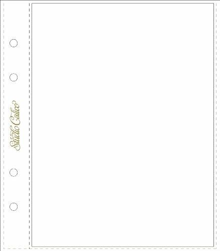 - Studio Calico - Page Protectors - 6pk - 6x8inch