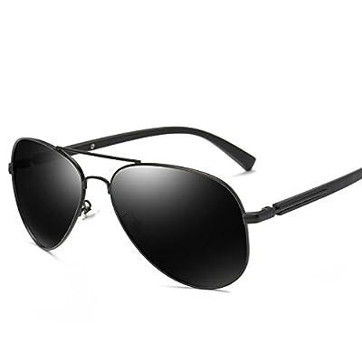 LXKMTYJ Le Goji Lunettes de soleil Lunettes miroir conducteur visage long hommes lunettes myopie conduite Hd miroir, Boîte noire avec onglets gris noir (913)