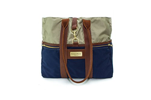 Blue Signature Tote Bag by Sword and Plough