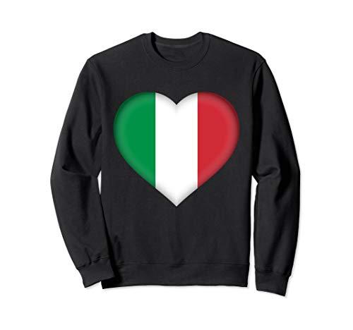 I Love Italy Sweatshirt | Italian Flag Heart Outfit