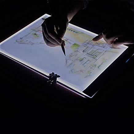 - V-Best A4 Ultra-Thin Portable LED Light Box Led Desk Light Usb Cable 3 Levels Light Adjustment For Artists,Drawing, Sketching, Animation.