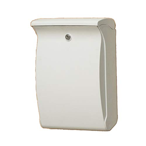 DR Wall-Mounted Mailbox ABS Plastic, Outdoor Anti-UV, Durable, Non-Fading Home Letter Box, Suitable for Villas, Patios, Three Colors Available (Color : White)