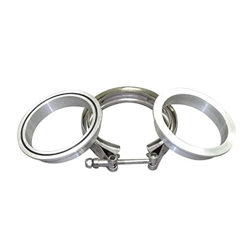 ISPEEDY V Band Clamp Aluminum Flange O-Ring Turbo Intercooler Intake Piping Kit (3.0