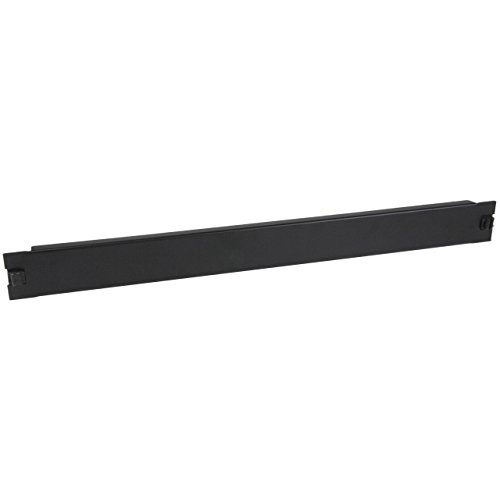StarTech.com Blanking Panel - 1U - 19in - Tool-Less - Steel - Black - TAA Compliant - Blank Rack Panel - Filler Panel (RKPNLTL1U)