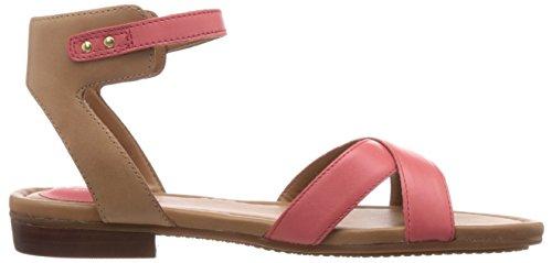 Clarks Viveca Zeal - Sandalias de vestir de cuero para mujer rojo - Rot (Coral Leather)