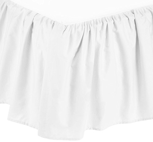 American Baby Company 100% Cotton Percale Portable Mini Crib Skirt, White (Bedding Separates Crib)