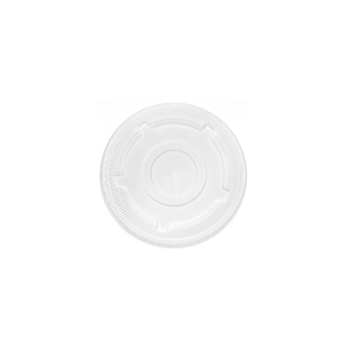 Eco-Products - GreenStripe Renewable & Compostable Cold Cup Flat Lids - Fits 32oz. Cold Cups - EP-FLCC-32 (12 Packs of 50)