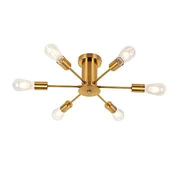 Amazon.com: VINLUZ - Lámpara de techo empotrable, Brass ...
